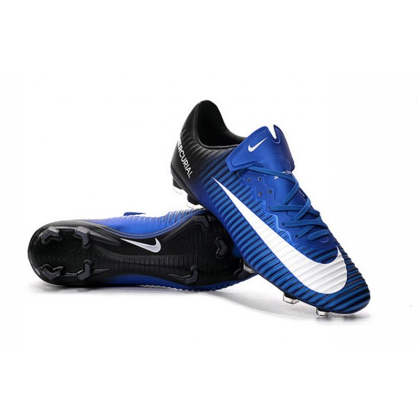 promo code 3216a 5e4e9 ... real new nike mercurial vapor xi cr fg football boots blue white black  00622 7641f