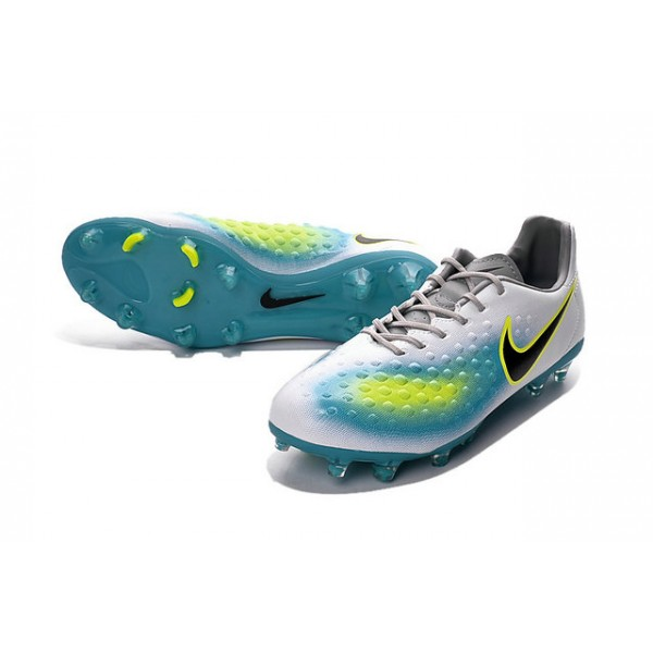 2016 Nike Magista Opus II FG Men's Soccer Boot White Blue ...