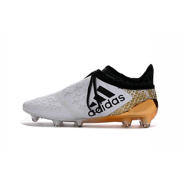 67286a34c74a NEW! Adidas X 16+ Purechaos FG/AG - Soccer Cleats White Gold Black