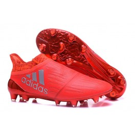 NEW! Adidas X 16+ Purechaos FG/AG - Soccer Cleats Solar Red Silver Metallic Hi-Res Red Primeknit