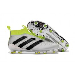 Adidas ACE 16+ Purecontrol FG/AG - New Football Cleats - Silver Metallic Core Black Solar Yellow