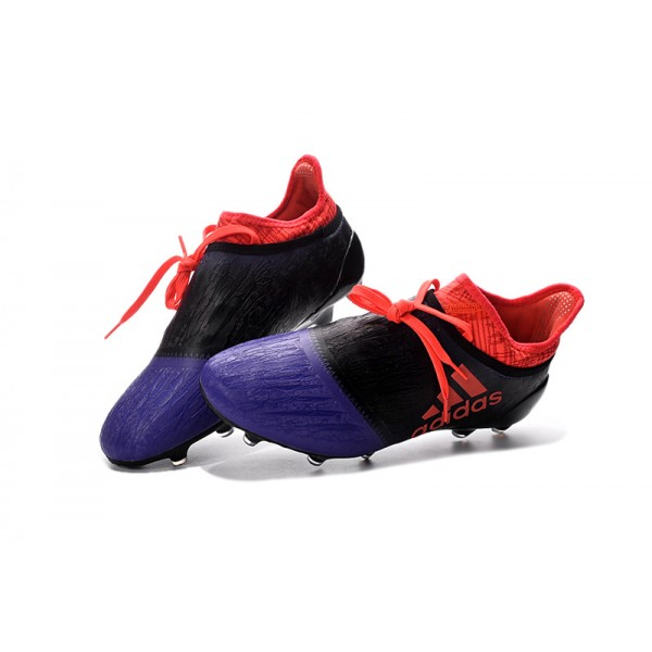 sale retailer 443ea 5f5ea Adidas X 16+ Purechaos FG AG - Soccer Cleats Black Violet Orange