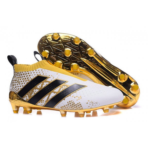 separation shoes 38154 a67ec ... adidas ace 16+ purecontrol fg ag new football cleats stellar pack black  white gold