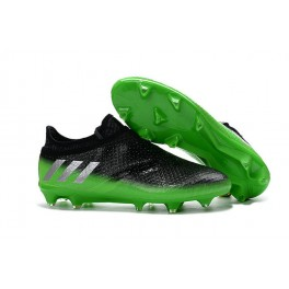 New Cleats For Men - adidas Messi 16+ Pureagility FG/AG - Dark Grey Silver Metallic Solar Green