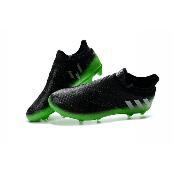 new concept f0150 35b24 New Cleats For Men - adidas Messi 16+ Pureagility FG AG - Dark Grey Silver  Metallic Solar Green