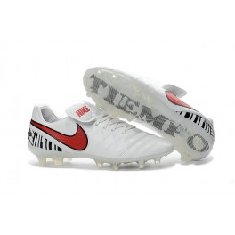 New Shoes for Men Nike Tiempo Legend VI FG Cleats White Red