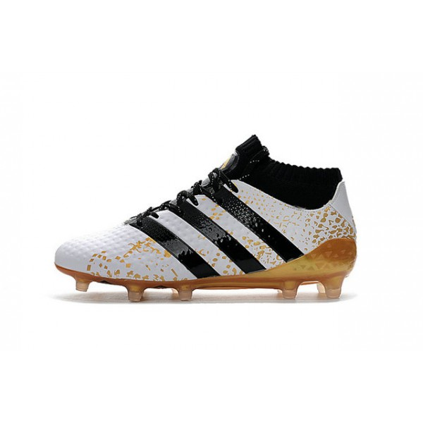 c7ad3a7de0d Adidas ACE 16.1 Primeknit FG AG - New Men s Cleats Black White Gold