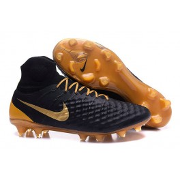 Men's Nike Magista Obra II FG Soccer Shoes - New Black Gold