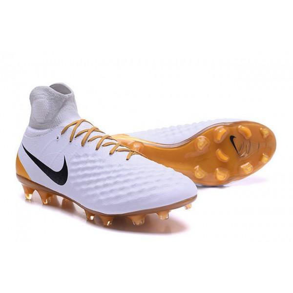 e5722b845 Men s Nike Magista Obra II FG Soccer Shoes - New White Gold