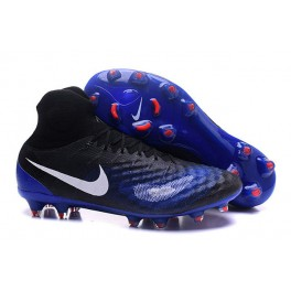 Men's Nike Magista Obra II FG Soccer Shoes - New Black Blue White