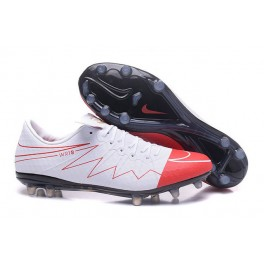 Football Cleats for Men Nike hypervenom phinish II FG Wayne Rooney White Red Black