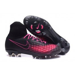 Men's Nike Magista Obra 2 FG Soccer Shoes ACC Black Pink