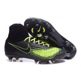 Men's Nike Magista Obra 2 FG Soccer Shoes ACC Black Volt