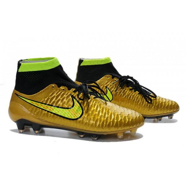 2015 Cheap Nike Magista Obra FG Soccer Cleats Golden Yellow