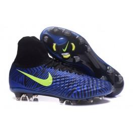 New Cleats For Men Nike Magista Obra II FG Blue Black Volt