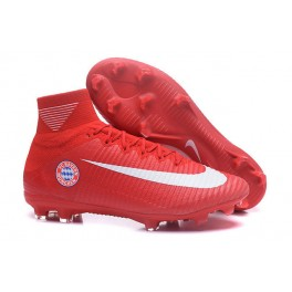 2016 Football Shoes - Nike Mercurial Superfly V FG FC Bayern München Red White