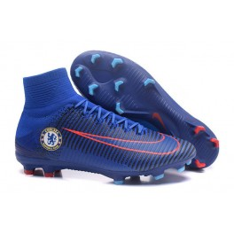2016 Football Shoes - Nike Mercurial Superfly V FG Chelsea FC Blue Orange
