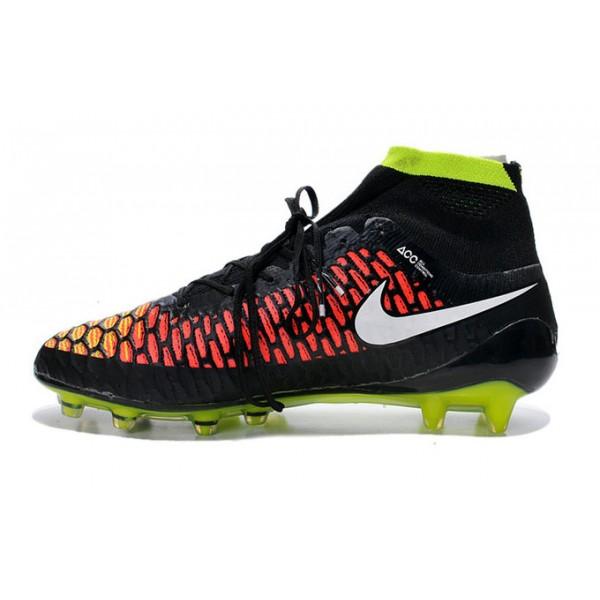 Nike Magista Obra FG Men s Firm-Ground Soccer Shoes Black Green Red White 8214190de