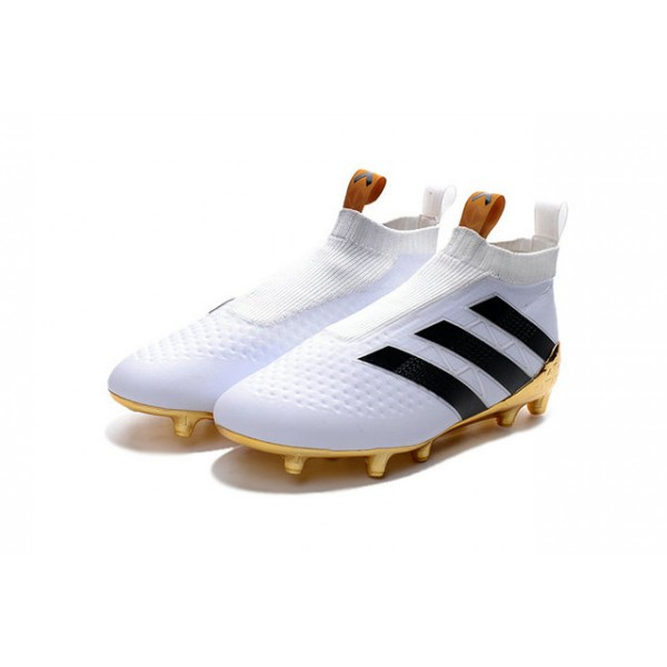 33f79744 Soccer Cleats for Men - Adidas ACE 16+ Purecontrol FG/AG - White Gold Black