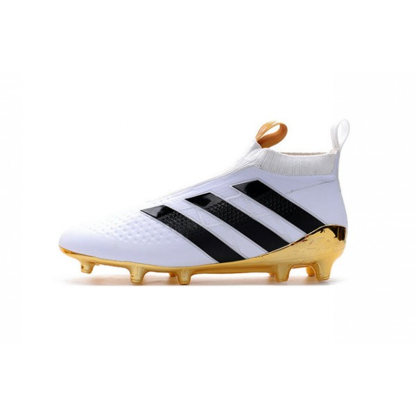 pretty nice 8f815 09568 Soccer Cleats for Men - Adidas ACE 16+ Purecontrol FGAG - White Gold Black