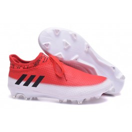 2017 Soccer Shoes Adidas Messi 16+ Pureagility FG/AG - White Core Black Red