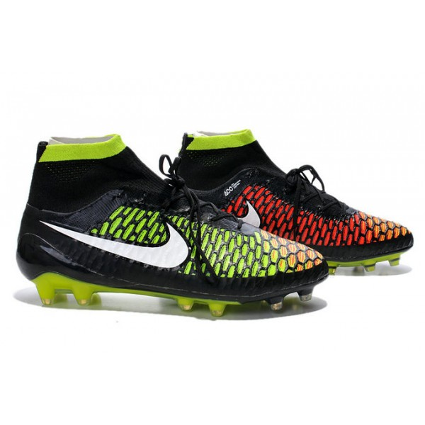 Nike Magista Obra FG Mens FirmGround Soccer Shoes Black Green Red White