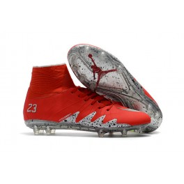 Men's Nike HyperVenom Phantom 2 FG Soccer Shoes ACC Red Silver