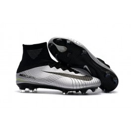Football Shoes For Men - Nike Mercurial Superfly V FG Argent Noir