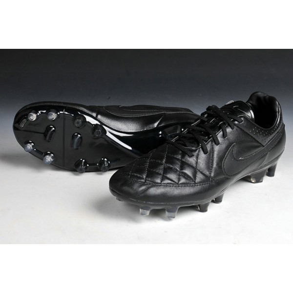 half off a919d 00124 New Nike Football Shoes Nike Tiempo Legend FG Cleats all Black