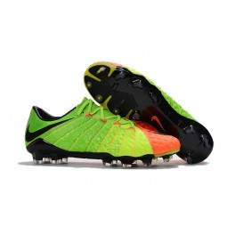 Nike Hypervenom Phantom III FG Men Soccer Cleats For Sale Electric Green Black Hyper Orange