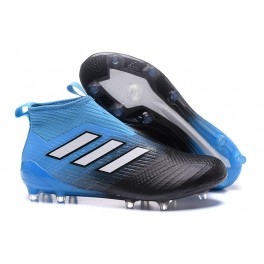Soccer Cleats Adidas ACE 17+ Purecontrol Firm Ground Blue Black