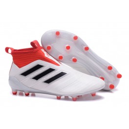 Adidas ACE 17+ Purecontrol FG Soccer Cleats On Sale - White Core Black Red