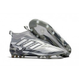 low priced fea9c 58417 Adidas ACE 17+ Purecontrol FG Sock Boots - Clear Grey White Core Black