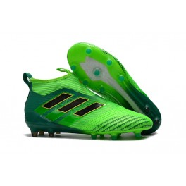 New Adidas Boots ACE17+ Purecontrol Firm Ground Solar Green / Core Black / Core Green