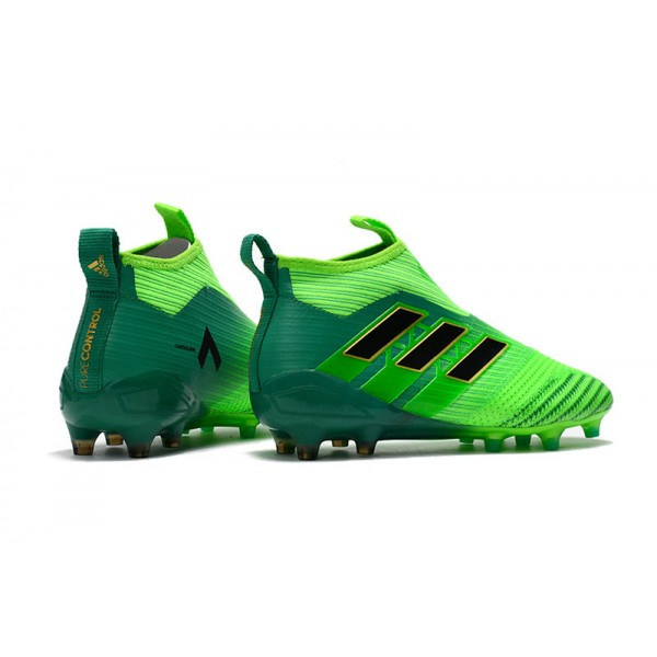 d12db8be6d8 New Adidas Boots ACE17+ Purecontrol Firm Ground Solar Green   Core Black    Core Green