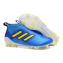 Adidas ACE 17+ Purecontrol Firm Ground Non Stop Grip Blue Yellow White
