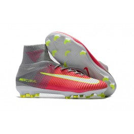 official photos d64d4 89879 Mens Soccer Cleats Nike Mercurial Superfly V FG Motion Blur - Hyper Pink  White Wolf Grey