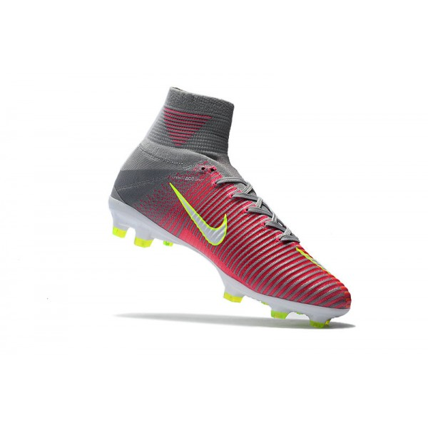 36f3d2755 Mens Soccer Cleats Nike Mercurial Superfly V FG Motion Blur - Hyper Pink  White Wolf Grey