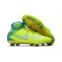 2017 Nike Magista Obra II Firm Ground - Men Boots - Volt White Chlorine Blue