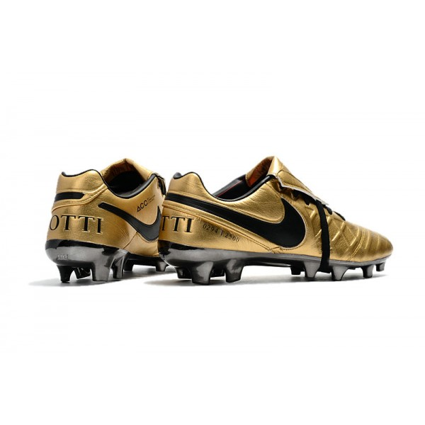 detailed look 5130a 45bbf Football Boots Nike Tiempo Legend 7 FG - Totti X Roma Gold Black