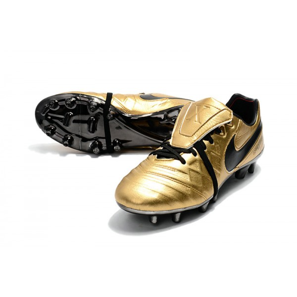 detailed look 51c5d 2a2f9 Football Boots Nike Tiempo Legend 7 FG - Totti X Roma Gold Black