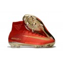 New Nike Mercurial Superfly 5 FG - Nike Shoes For Men Red Gold