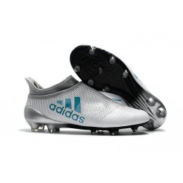 New - Adidas X 17+ Purespeed FG Football Shoes for Men White Energy Blue Clear Grey