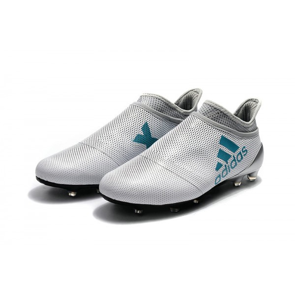 01ee42eeb New - Adidas X 17+ Purespeed FG Football Shoes for Men White Energy Blue  Clear Maximize. Previous. Next
