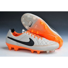 2015 men's soccer boots nike tiempo legend v fg sable black orange