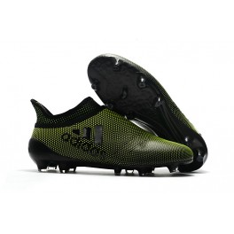 Men's Football Cleats - Adidas X 17+ Purespeed FG Dark Green Black
