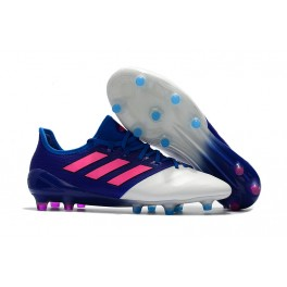 New Soccer Shoes - ACE 17.1 Leather FG Cleats Blue Pink White