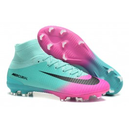 New Nike Mercurial Superfly 5 FG - Nike Shoes For Men Pink Blue Black