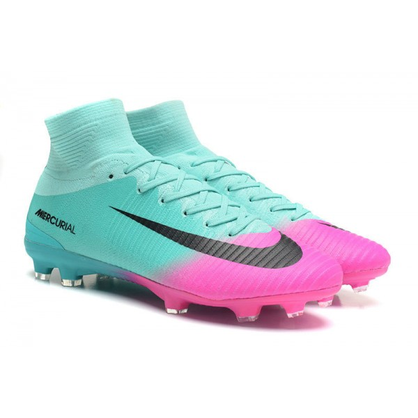 the best attitude f68b8 586ca New Nike Mercurial Superfly 5 FG - Nike Shoes For Men Pink Blue Black