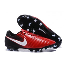 2017 New Soccer Shoes Nike Tiempo Legend VII FG - Red Black White